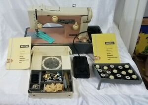 1963 Necchi Supernova Julia Sewing Machine w/ CAM Kit, Pedal, Manuals- RARE!