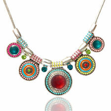 Fashion Charm Jewelry Pendant Chain Crystal Choker Chunky Statement Bib Necklace