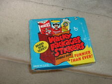 1973 Topps Gum Co Wacky Packages 3rd Series Sticker Blue Display Box  RARE!