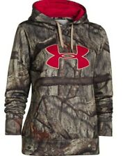 $75 Womens Under Armour all over camo hunting hoodie Medium Mossy Oak Treestand