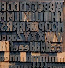 Letterpress Wood Printing Blocks 154pcs 142 Tall Alphabet Wooden Type Woodtype