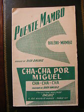 Spartito Puente Mambo Cha Cha por Miguel cha cha cha Rico Daluiz