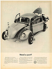 Vintage 1965 Magazine Ad Volkswagen Need a Part We Have It In Stock Year to Year