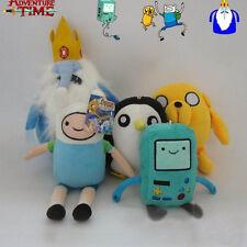 5PCS Adventure Time Finn Jake BMO Beemo Ice King GUNTER Penguin Plush Toy Dolls