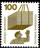 702 A postfrisch BRD Bund Deutschland Briefmarke Jahrgang 1971