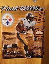 Pittsburgh Steelers Willie Parker NFL Reebok Tee Shirt Men's Size L