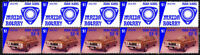 MAZDA AUTO ICONS STRIP OF 10 VIGNETTE STAMPS, MAZDA RX4 #3