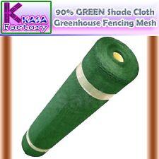 90% GREEN Shade Cloth Shadecloth Greenhouse Scaffold Fencing Mesh 200, 3.66 x 30