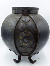 Rare Antique Korean Inlaid-silver/gold Archaic Iron Vessel