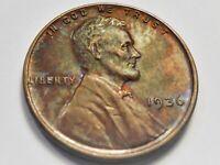 UNC . Toned 1936 P Lincoln Wheat Cent#ORR336