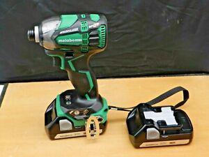 Metabo Hitachi WH18DBDL2 Q4 18V Brushless Triple Hammer Impact Driver 2 battery