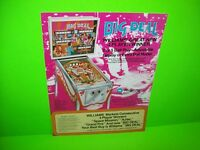 Williams BIG DEAL Pinball Machine Promo Flyer Original 1977 Flipper Game Artwork