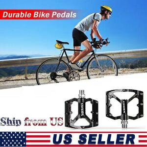 2 x Bicycle Bearing Pedals Cycling Wide Nylon Non-Slip Mountain Bike MTB BMX USA
