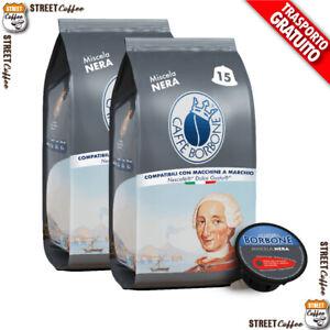 180 Capsule Caffè Borbone Miscela Nera Nero 100% Compatibili Dolce Gusto Nescafè