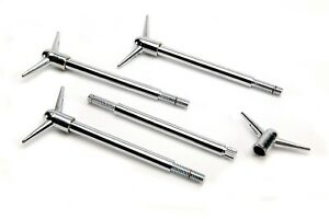 Mr Gasket 9829 Chrome Valve Cover Wing Bolts