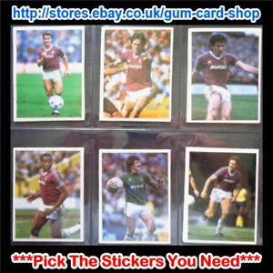 DAILY MIRROR 1986-87 STICK WITH SOCCER (WEST HAM UNITED) *SELECT STICKERS*