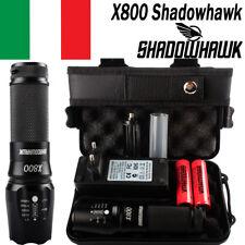 80000LM CREE XML L2 LED Militare tattica Torce torcia Faro 18650 batteri+2x18650