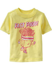 54% OFF!AUTH OLD NAVY BABY BOY'S FASTFOOD GRAPHIC TEE 4T / 3-4 YRS BNEW US$10.94