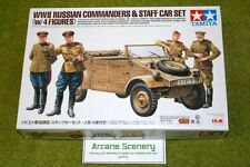 TAMIYA WWII Russian Commanders & Staff Car set 1/35 scale kit 25153 D