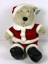 Starbucks Plush Teddy Bearista Christmas Santa Costume w Partial Tag
