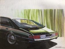 Vintage Automotive Design Drawing ca.1970 Artist Homer Lagassey