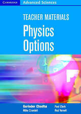Teacher Materials Physics Options CD-ROM (Cambridge Advanced Sciences), Yarnell,