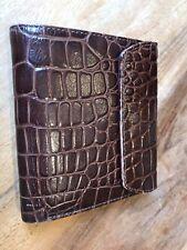 Filofax Trifold Wallet Brown Croc Deluxe Genuine Leather