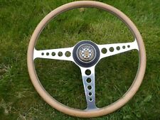"""JAGUAR E-TYPE 3.8 EARLY 16""""  STEERING WHEEL SPECIALLY MADE WITH THICKER GRIP"""