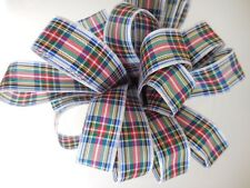 7mm Berisfords Tartan Ribbon 17 Tartans, 4 Lengths 1, 2, 5, and 10Mtrs. Free P&P