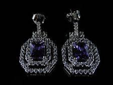 Amethyst Silver Earring Victorian Fine Jewellery