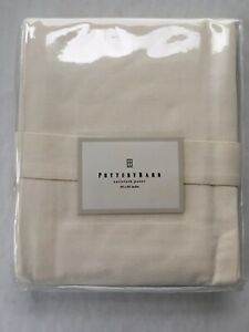 Pottery Barn Sailcloth Panel With Tie Back Cotton Natural Color New In Package