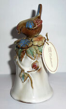 Ceramic Bell Sparrow Finch On Decor Bell Tii Collections 1970s w. Orig. Tag