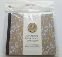 2017 £2 coin JANE AUSTIN two pound Brilliant Uncirculated Royal mint SEALED PACK
