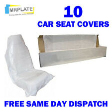 10 Disposable Plastic Car Seat Covers - Pet Dog Animal Protect Seats