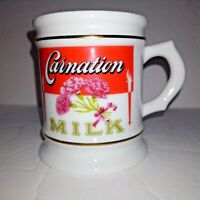 VINTAGE 1984 CARNATION MILK COFFEE MUG PORCELAIN Great Advertising