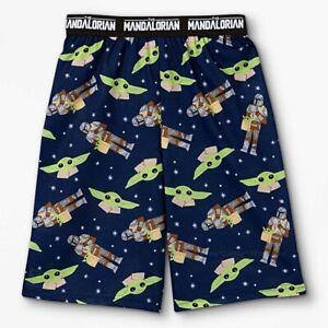 Baby Yoda Boy's Pajamas Shorts Pants Star Wars The Mandalorian Size 6-16 NWT NEW