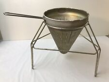 Vintage Aluminum Canning Strainer Sieve with Stand Applesauce Tomato Food Prep