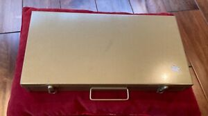 Brumberger 35mm Metal Slide Tray Storage Case File Box – 150 Slots - Vintage