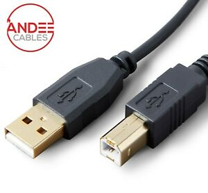 Printer Cable USB 2.0 High Speed Gold Connectors 1m 2m 3m 5m Black Scanner PC HP
