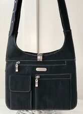 BAGGALLINI City Bagg Black Nylon Structured Organizer Crossbody Shoulder Bag