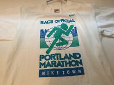 Vintage Nike Town Portland Marathon Race Official Runners Shirt Size Medium
