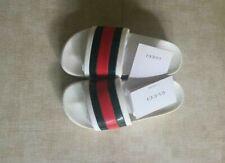 Women's Gucci White slides - Rubber Flip Flops / Sandals / Slippers EU-37