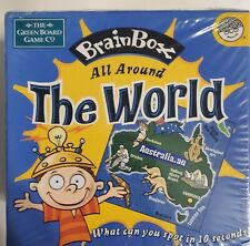 Brain Box - All Around The World Game, The Green Board Game Company Sealed/New!
