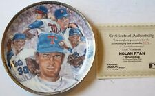 "1991 Nolan Ryan ""Miracle Man"" 8 1/2"" LE Plate w/COA Sports Impression New"