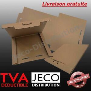 Boite postale plate carton 320x320x10 étuis expédition protection disque vinyle