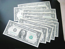 (10) $1 1969 ((CHICAGO))FEDERAL RESERVE NOTE CHOICE UNC NOTE has little stain