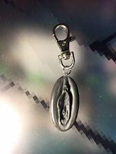 Handmade Vagina vulva Keychain Erotic Nude Female Sexy Charm key ring grey