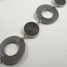 1pcs Antique Silver Alloy Whorl Round Chain Diy Jewelry Making Accessories 31624
