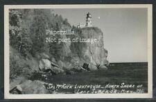 MN Two Harbors RPPC 40's SPLIT ROCK LIGHT HOUSE North Shore Superior by Hamilton