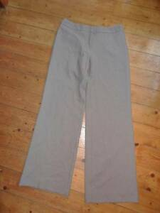 (JN140) Sz 12 Eu38 *KALIKO* Smart beige/brown fleck tailored trousers